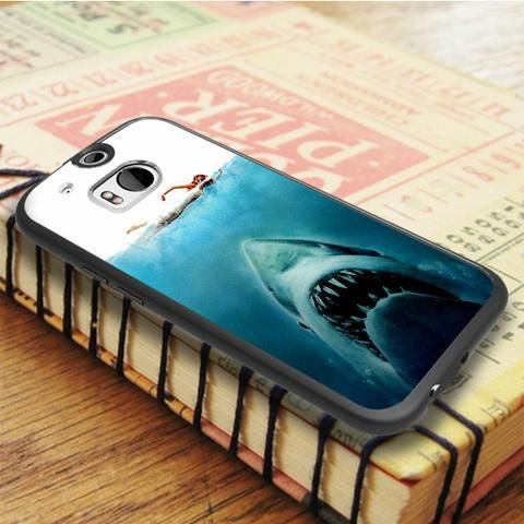 Shark Jaws Movie HTC One M8 Case