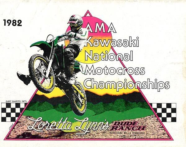 tonyblazierThe first of what would become an annual amateur tradition, the 1982 Kawasaki National Motocross Championships from Loretta Lynn's Dude Ranch in Hurricane Mills, Tennessee #CountdownToLorettas