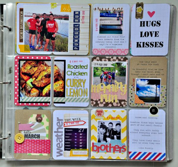 an album of cute tags...like a mini scrapbook.  I wish I could find details about this instead of just pictures.  I'm curious about this