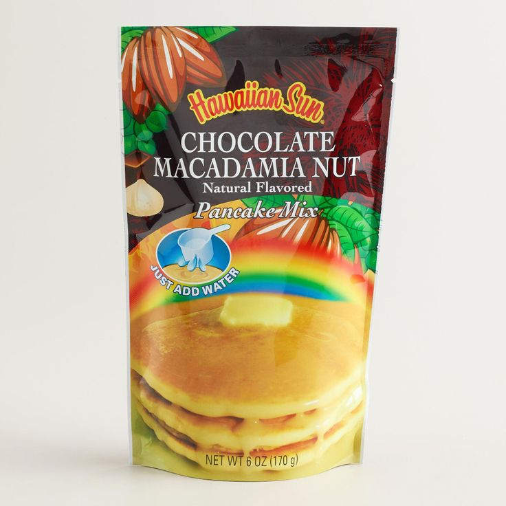 Hawaiian Sun Chocolate Macadamia Nut Pancake Mix 6oz from hilohattie ...