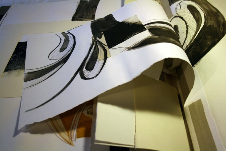 Camilla Rossi, Libri Sovradimensionati con pagine decifrabili-(part.) Libro d'artista dedicato al Museo di Santa Giulia, Libro 1 (del Museo e dei Suoi Reperti), tecnica mista su carta, 2010