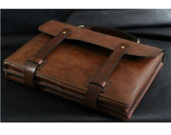 Its made of high quality vegetable tanned leather,its dyed vintage brown,its large enough and so cool for short trips . All metal parts are brass accessories,and the length of shoulder straps can be adjusted by yourself.  Dimensions: W 8.6 in. * H10.6 in. * TH 3 in.