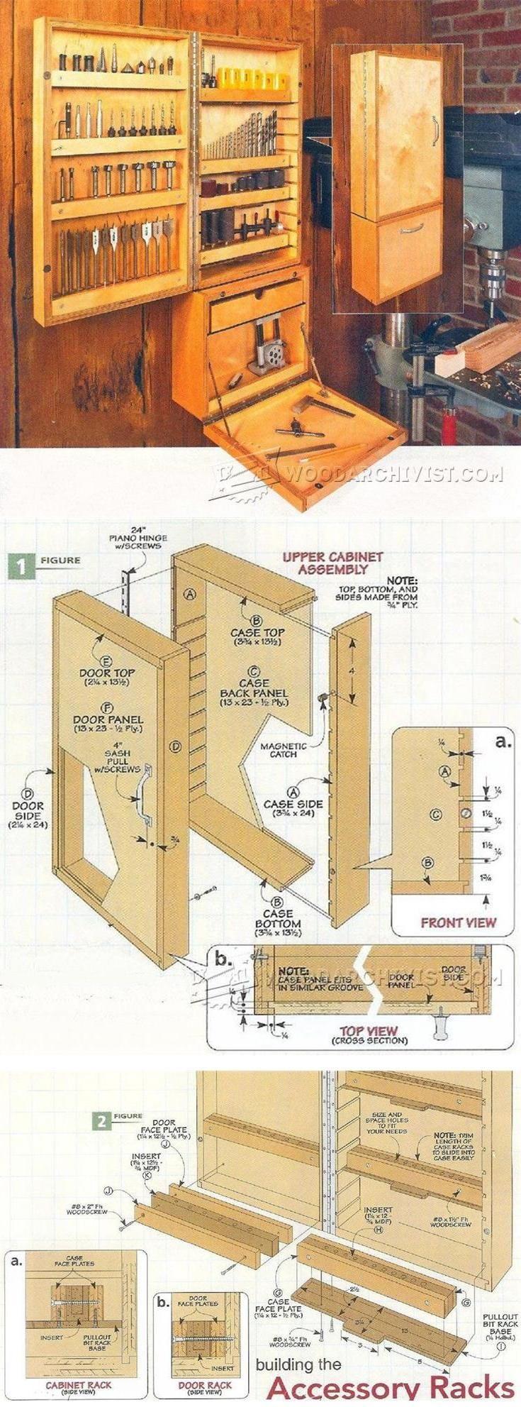 Drill Press Accessory Cabinet Plans - Drill Press Tips, Jigs and Fixtures | WoodArchivist.com