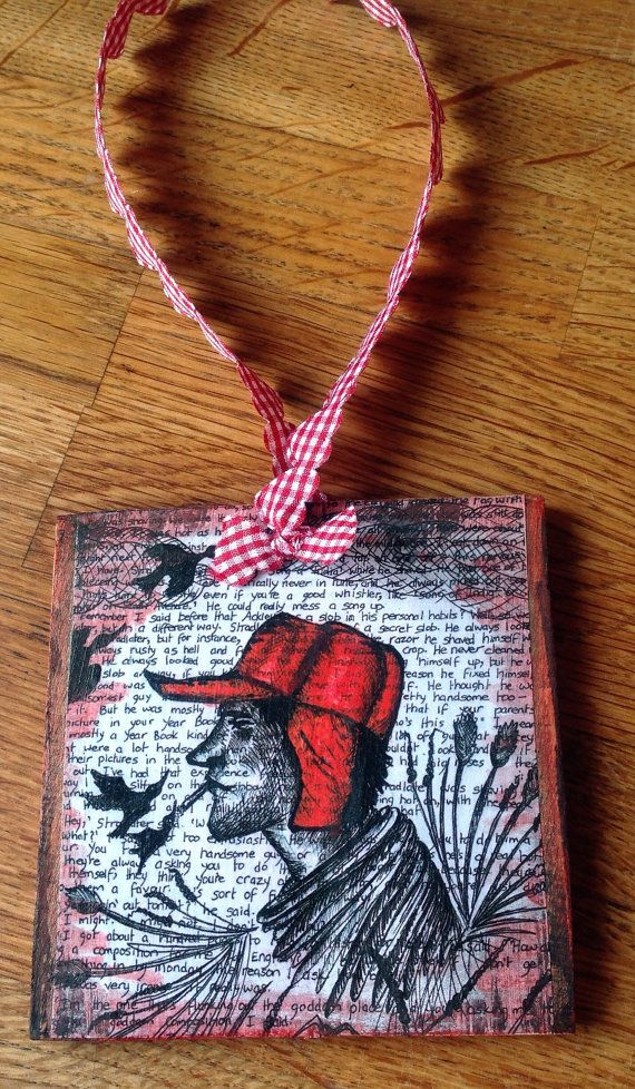 Holden Caulfield The Catcher In The Rye Wooden by LouSimArt