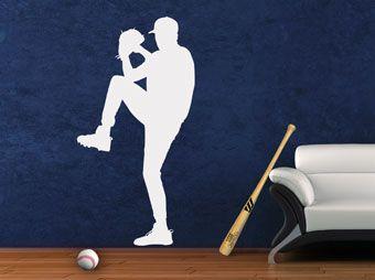 Muurtattoo honkbal nr. 6