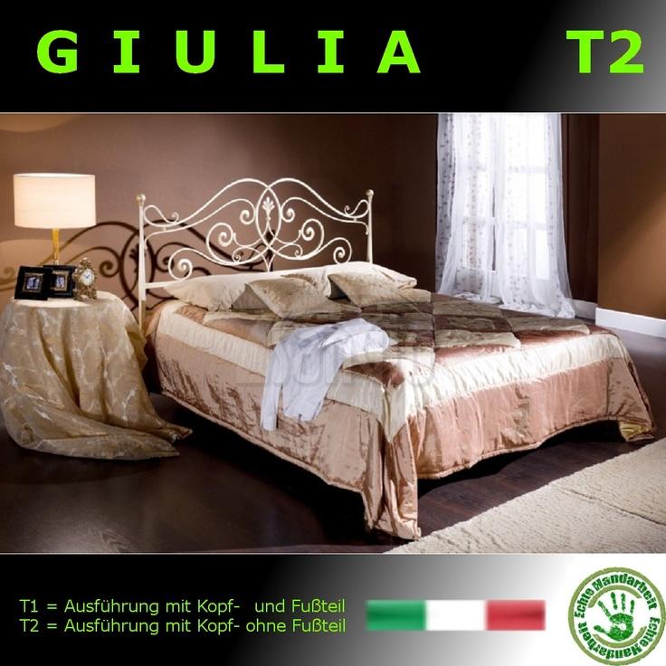 T2 Metallbett Nur Mit Kopfteil (ohne Fußteil) Modell GIULIA