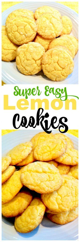 Simple Lemon Cookies - 1 box lemon cake mix, 2 eggs, 1/2 cup butter, 2 Tbsp powdered sugar (optional)