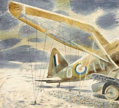 "Eric Ravilious (1903-1942) ""Gangly old Lysander, pilots braver than brave."" KB"