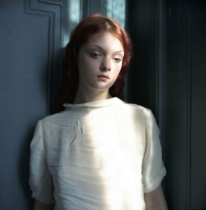 pensive red haired girl    hellen van meene