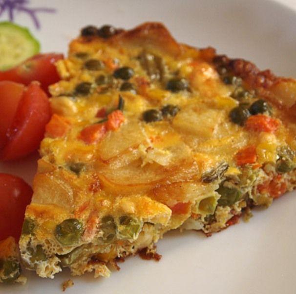 Ομελέτα στο φούρνο με λαχανικά - Media