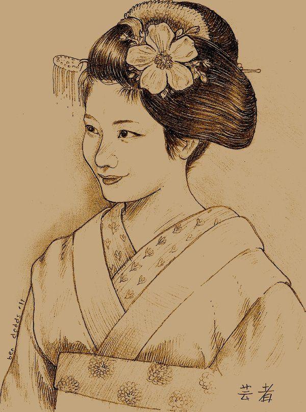 how to draw geisha eyes