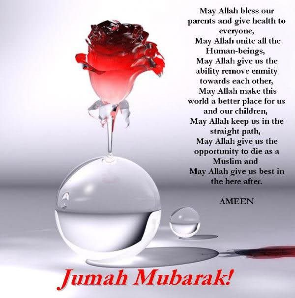Jumma Mubarak to all Muslim brothers and sister