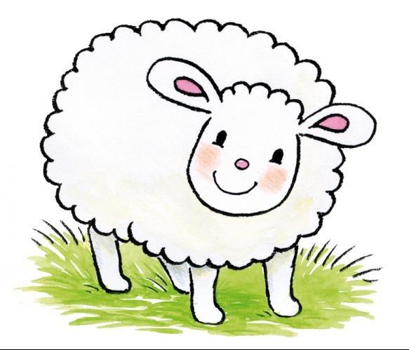 Fotobehang Sweet Collectie - Jolly Sheep - FotobehangFactory.nl