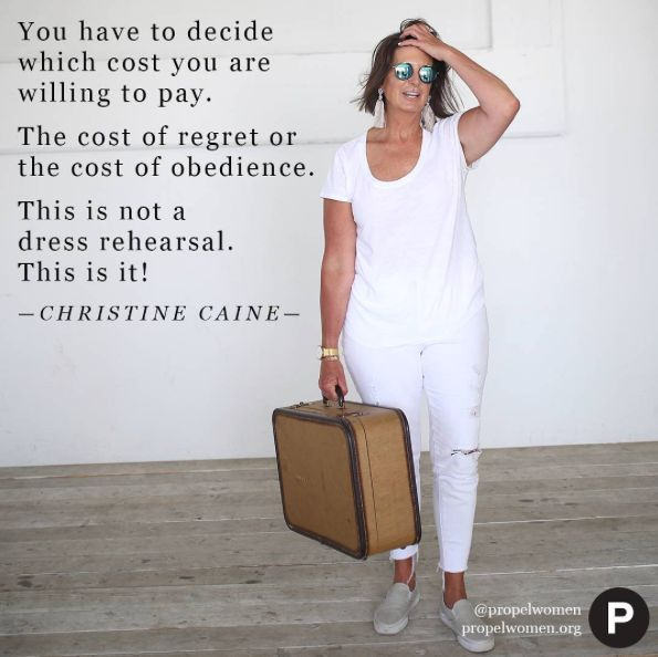 I want to live with no regrets—fully chasing after Him & His promises! —Christine Caine