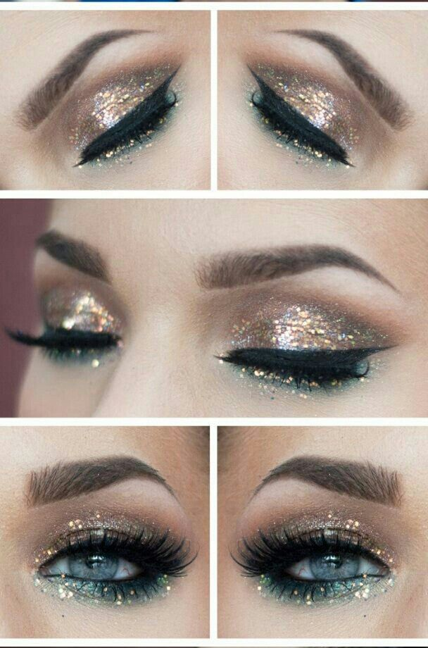 Glitter Eyeshadow Tutorial: 25+ Best Ideas About New Year's Makeup On Pinterest