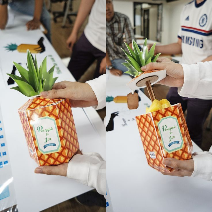 [Entertainment Fruit Packaging] Packaging design for pineapple by Joshua Kevin (batch 2014, UPH Product Design)