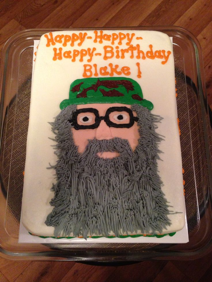 Uncle Si birthday cake