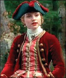Worn by Emilie Dequenne as Marianne de Morangais in Brotherhood of the Wolf 2001 and also on Catherine Zeta Jones as Catherine the Great in 1995