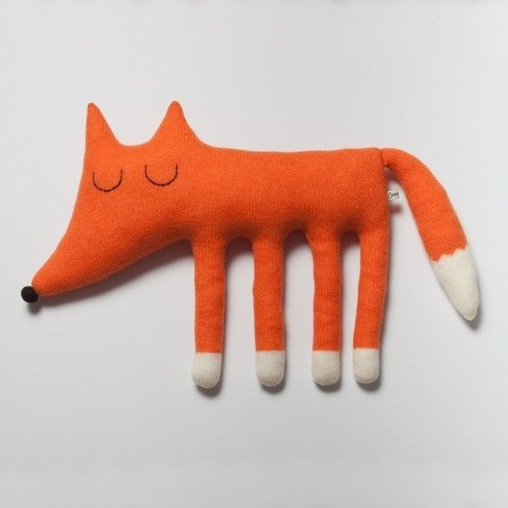 Large Monty the Fox Lambswool Plush Toy by Sara Carr