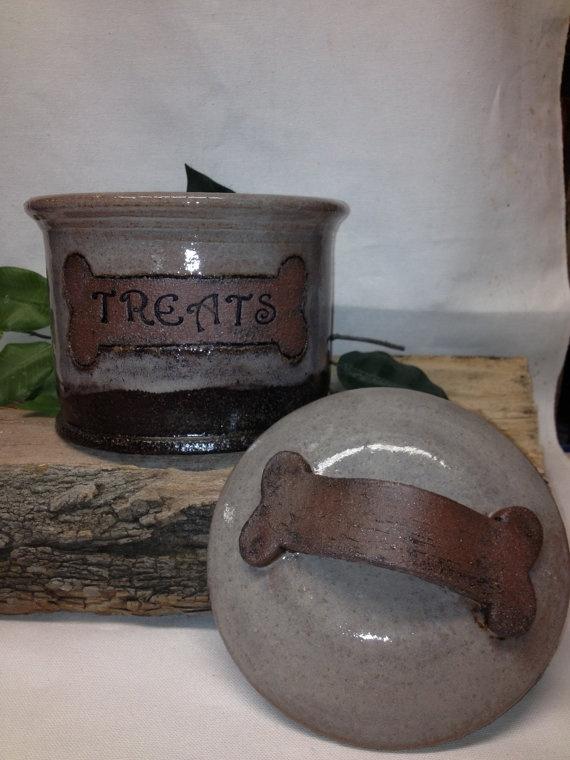 Custom Dog Treat Jar Cat Treat Jar Made to by FattyFrogPots, $35.00