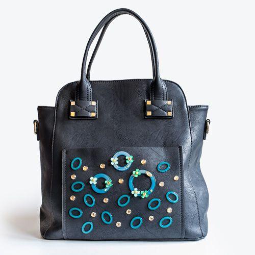 Green Orbit, black shoulderbag ideal for everyday. Adadi Accessories