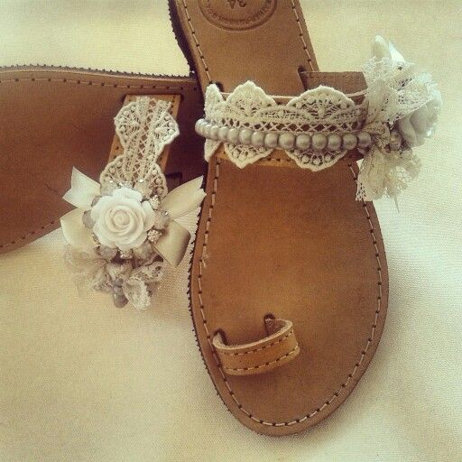 Wedding sandals handmade by elena tsiara. Ship everywhere* availiable in many sizes. Sent  me mail at elenasandals@gmail.com