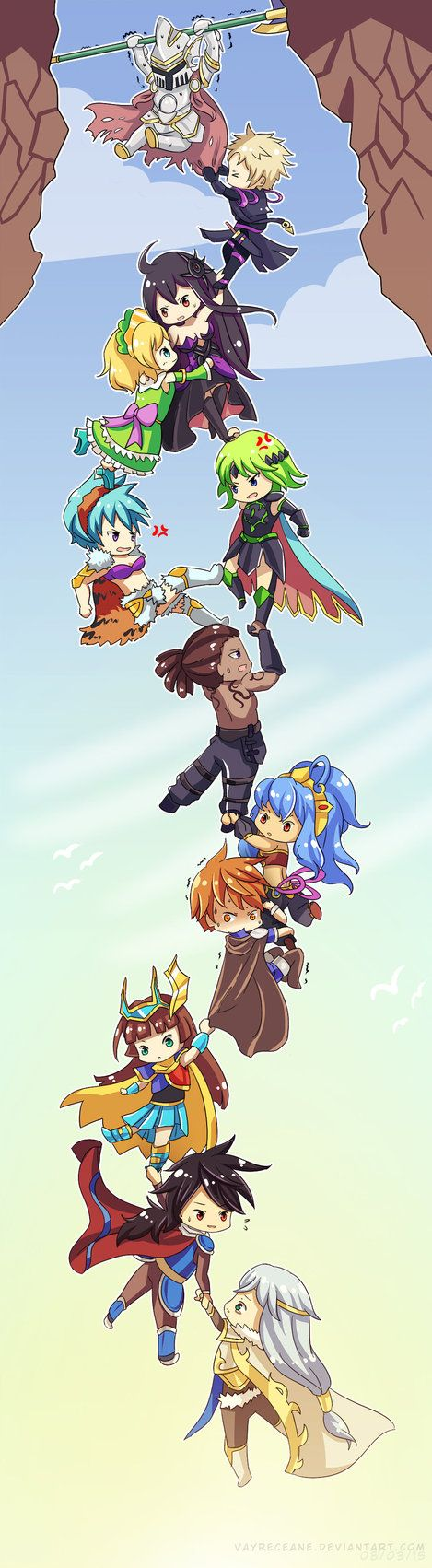 Brave Frontier 12 guardians of the gods - Hold On! by Vayreceane