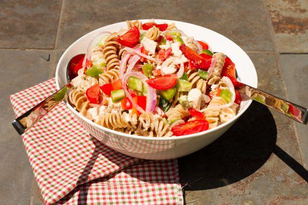 Salade de pâtes crémeuse au poulet grillé - Nautilus Plus