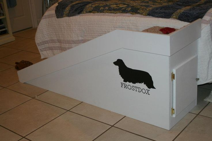 Ramp for our dachshunds to get on and off our bed. They love it! Fab idea!! I want one