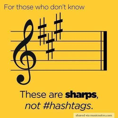 #whathasmodernlifedone You shouldn't have understood that.....it's a sharp not a hashtag
