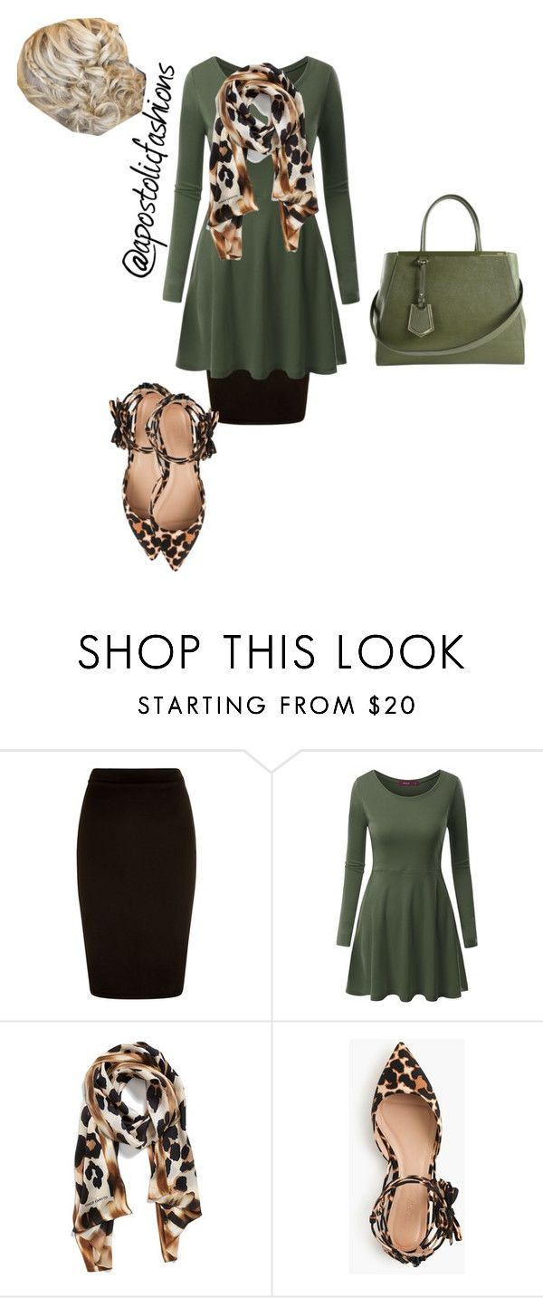 """Apostolic Fashions #949"" by apostolicfashions on Polyvore featuring Doublju, Collection XIIX, J.Crew and Fendi"
