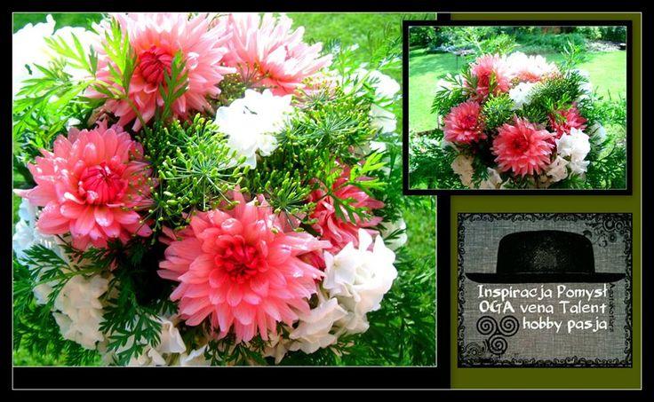 Bukiet z kwiatów z ogródka.