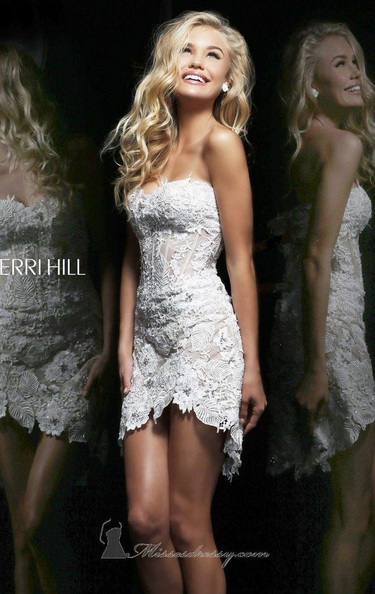 Short white dresses for wedding reception   best Little White Dress images on Pinterest  Bridal gowns