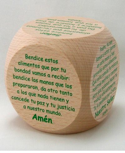 21 best 1st communion with creator mundi images on pinterest cubo de oraciones de mesa mealtime prayer cube in spanish first communion fandeluxe Gallery