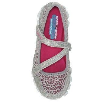 Skechers: Lil Sweetpea girls Mary Jane shoes (silver)