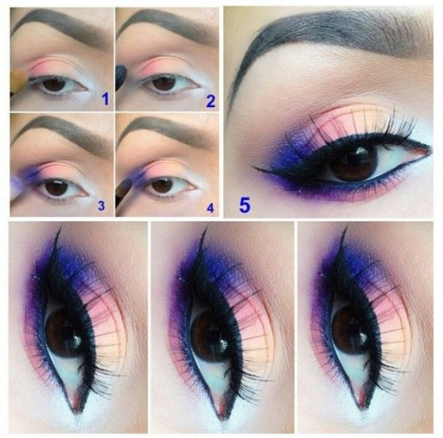 I'm usually not into heavy coloured eyeshadows, but something about this colour with the long wispy eyelashes just looks so neat! :)