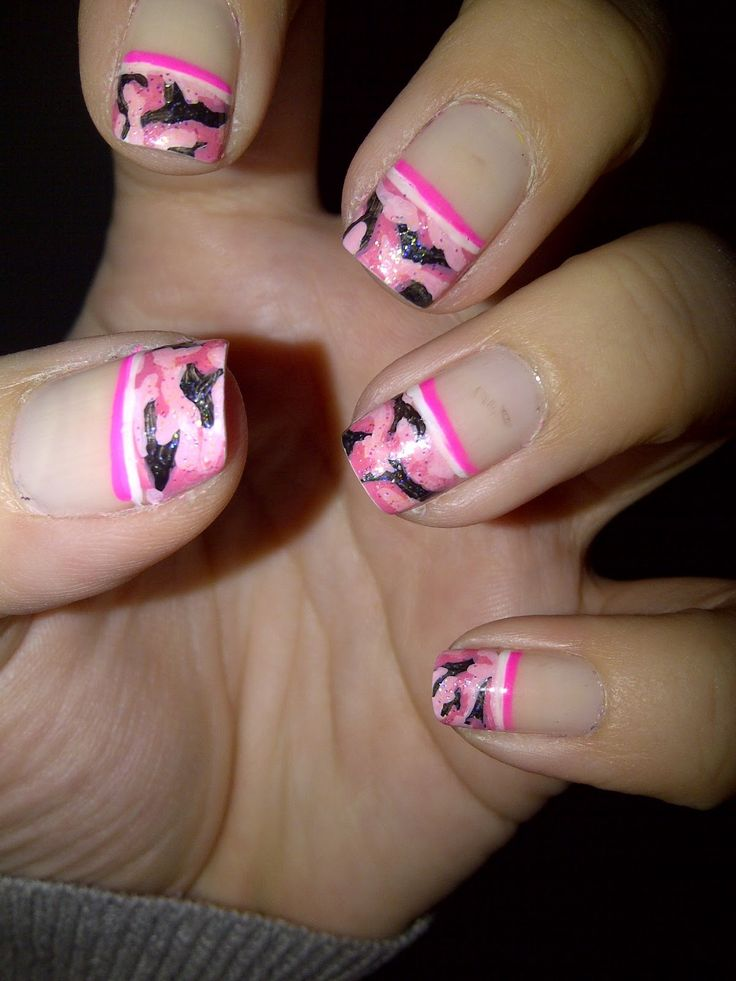 Best 25 camo nail designs ideas on pinterest pink camo nails nails by valentine pink camouflage nails prinsesfo Choice Image