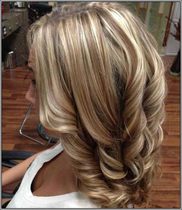 blonde hair with caramel and brown lowlights