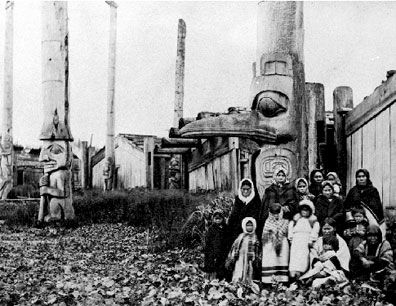 Haida Village Queen Charlotte Island 1890's