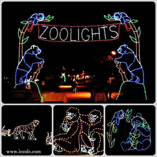 Smithsonian National Zoo in Washington, DC hosts its FREE annual holiday event, ZooLights. The Zoolights are a display of thousands of sparkling lights constructed to create sculptures of the National Zoo's most popular animals. Zoolights is held every night from November 29 to January 1 (except for December 24, 25, and 31). 5:00-9:00 pm  Be sure to check out our National Zoo Panda Package http://inndc.com/specials.php