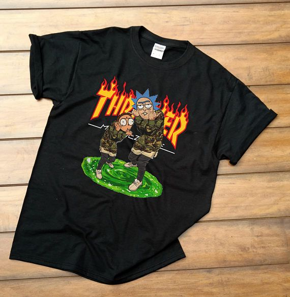 e1bf6bab0143 Thrasher Rick and Morty Hoodie Rick and Morty Supreme T-shirt Unisex Adult