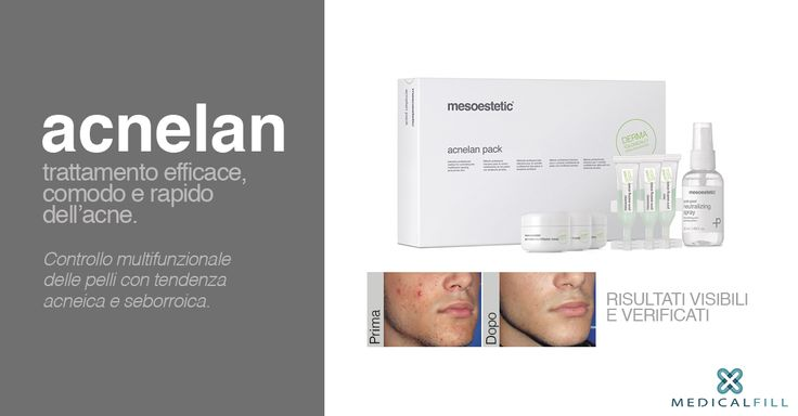 #Acnelan di mesoestetic, metodo innovativo per il trattamento topico delle pelli acneiche e seborroiche.