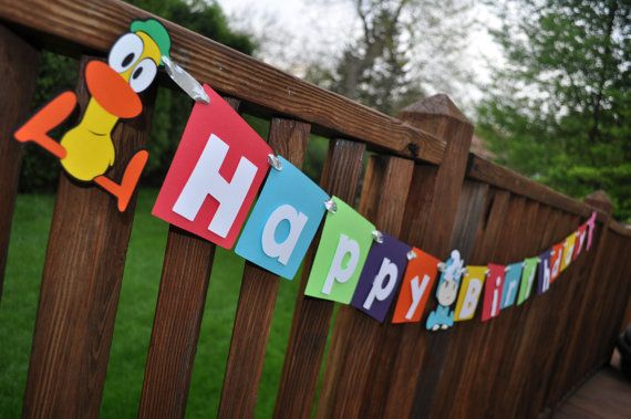 Pocoyo Birthday Banner by craftingwithkiddos on Etsy, $20.00