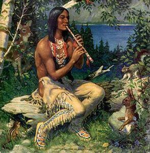 Native American Symbol for Love   native american playing flute