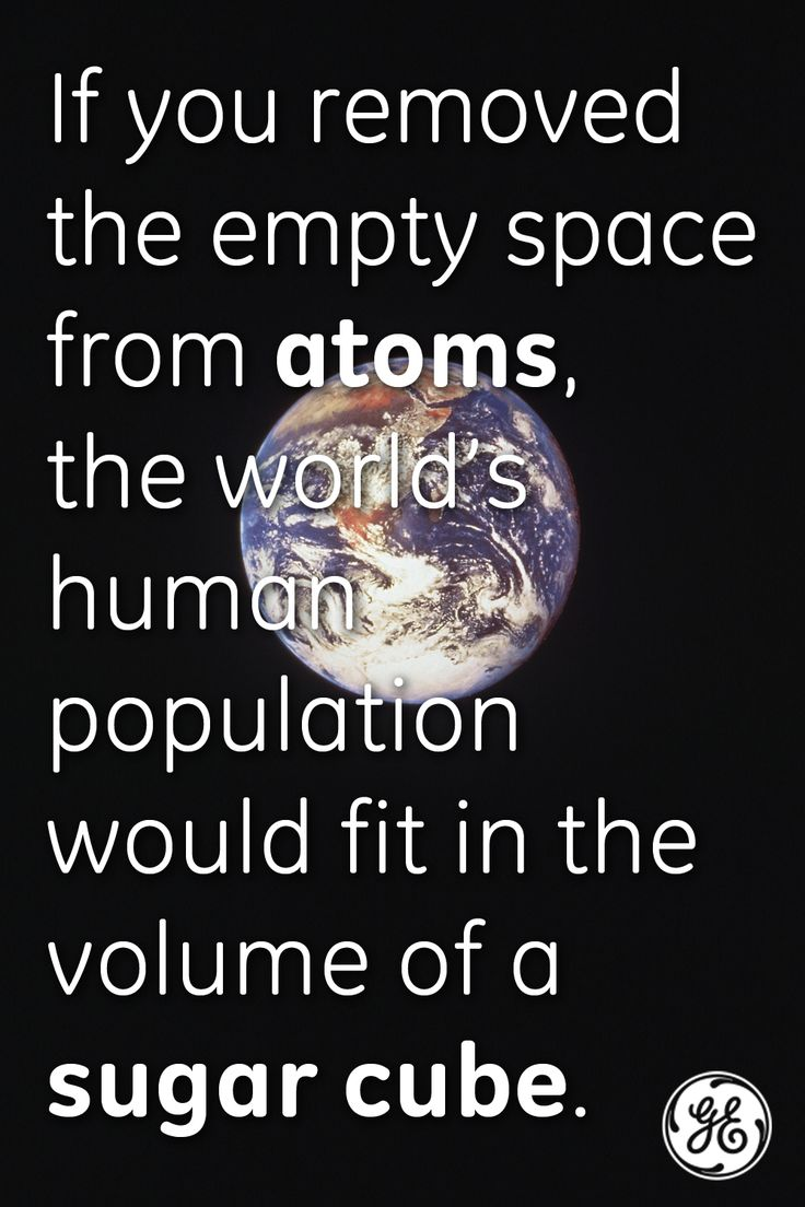 Atoms are 99% empty space.