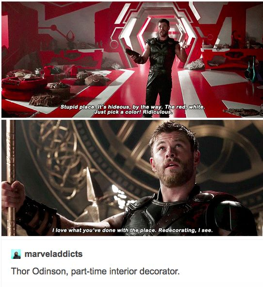 """The Avengers go to Ikea, and Thor is the only one who can pronounce the name of anything."""