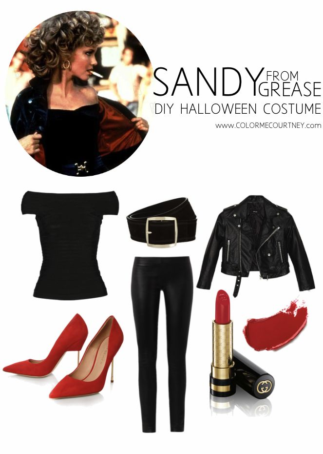 Easy DIY Halloween Costumes - Sandy from Grease DIY costume #diy #halloween…