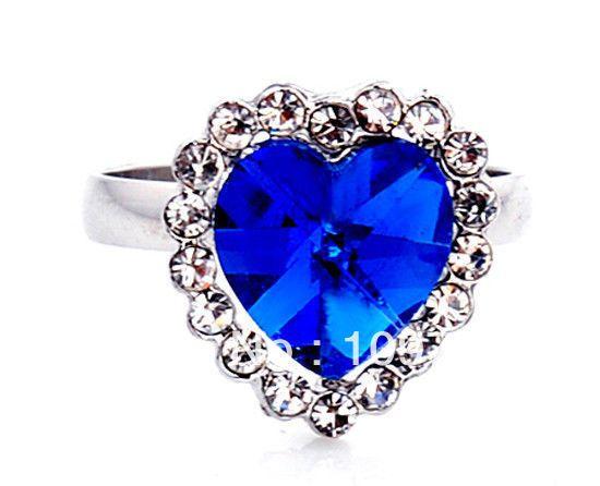 Promoción de Azul Zafiro Anillo De Corazón - Compra Azul Zafiro ...