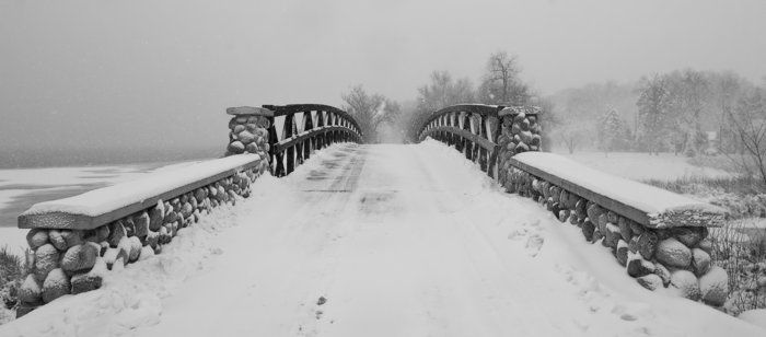 Snowy Bridge By Rachel Cain