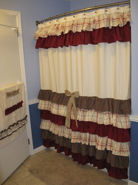 Inexpensive Designer Shower Curtains Brown Shower Curtain